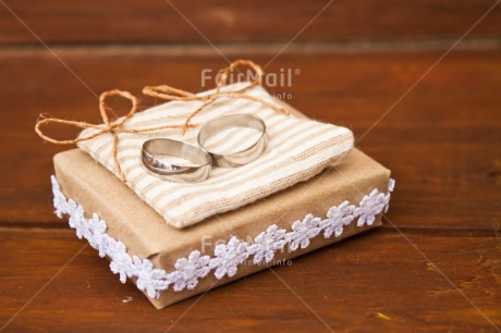 Fair Trade Photo Colour image, Couple, Horizontal, Love, Marriage, Peru, Ribbon, Ring, Silver, South America, Two, Wedding, White, Wood