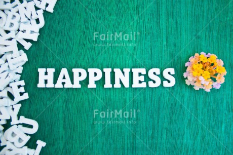Fair Trade Photo Colour image, Colourful, Emotions, Flower, Green, Happiness, Happy, Horizontal, Indoor, Letter, Letters, Multi-coloured, Peru, South America, Text, White