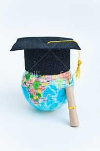 Fair Trade Photo Clothing, Colour image, Congratulations, Diploma, Globe, Hat, Indoor, Peru, South America, Success, Vertical, White