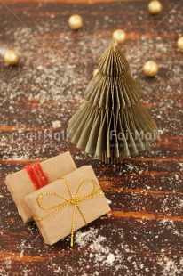 Fair Trade Photo Christmas, Christmas ball, Christmas decoration, Christmas tree, Colour image, Peru, Snow, South America, Vertical, Wood