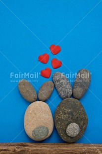 Fair Trade Photo Animals, Blue, Colour image, Couple, Easter, Heart, Love, Peru, Rabbit, Rock, Sky, South America, Thinking of you, Valentines day, Vertical, Wedding