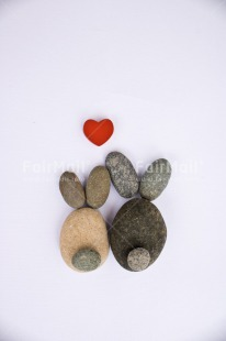 Fair Trade Photo Animals, Colour image, Couple, Easter, Heart, Love, Peru, Rabbit, Rock, South America, Thinking of you, Valentines day, Vertical, Wedding, White
