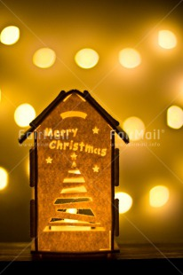 Fair Trade Photo Chachapoyas, Christmas, Christmas decoration, Colour image, Light, Peru, South America, Vertical, Yellow