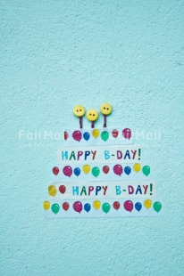 Fair Trade Photo Balloon, Birthday, Button, Chachapoyas, Colour image, Letter, Party, Peru, South America, Text, Vertical