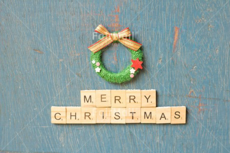 Fair Trade Photo Adjective, Blue, Christmas, Christmas decoration, Colour, Colour image, Garland, Horizontal, Letter, Object, Place, South America, Staple, Text