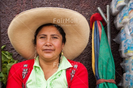 Fair Trade Photo Activity, Colour image, Day, Horizontal, Latin, Looking at camera, Market, One woman, Outdoor, People, Peru, Portrait headshot, Rural, Smiling, South America