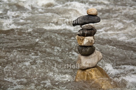 Fair Trade Photo Balance, Colour image, Condolence/Sympathy, Horizontal, Peru, River, South America, Stone, Water, Wellness