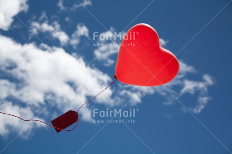 Fair Trade Photo Blue, Clouds, Colour image, Heart, Horizontal, Love, Peru, Red, Sky, South America, Summer, Valentines day, White