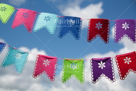 Fair Trade Photo Birthday, Clouds, Colour image, Flag, Horizontal, Invitation, Party, Peru, Sky, South America