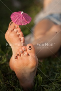Fair Trade Photo Activity, Colour image, Emotions, Foot, Happiness, Holiday, Outdoor, Peru, Relax, Relaxing, Smile, South America, Summer, Umbrella, Vertical