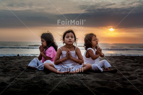 Fair Trade Photo Activity, Colour image, Friendship, Group of girls, Horizontal, Meditating, Outdoor, Peace, People, Peru, South America, Together, Wellness, Yoga