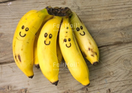 Fair Trade Photo Banana, Colour image, Food and alimentation, Friendship, Fruits, Funny, Health, Horizontal, Peru, Smile, South America