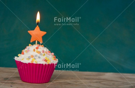 Fair Trade Photo Birthday, Candle, Colour image, Cupcake, Horizontal, Party, Peru, South America, Star