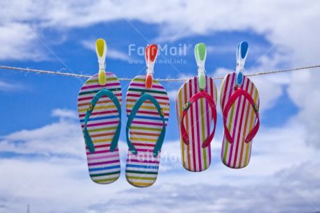 Fair Trade Photo Clouds, Colour image, Flipflop, Holiday, Horizontal, Love, Marriage, Outdoor, Peru, Sky, South America, Summer, Together, Travel, Washingline, Wedding