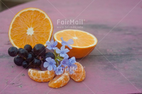 Fair Trade Photo Closeup, Colour image, Flower, Food and alimentation, Fruits, Get well soon, Grape, Horizontal, Mothers day, Orange, Peru, Shooting style, South America, Wellness