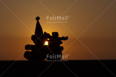 Fair Trade Photo Christmas, Colour image, Horizontal, Peru, South America, Sunset, Teddybear