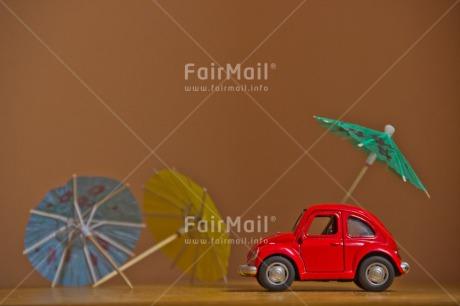 Fair Trade Photo Activity, Car, Colour image, Holiday, Horizontal, Indoor, Peru, Red, Seasons, South America, Studio, Summer, Transport, Travel, Travelling, Umbrella