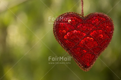 Fair Trade Photo Christmas, Colour image, Fathers day, Green, Hanging, Heart, Horizontal, Love, Mothers day, Peru, Red, South America, Tree, Valentines day