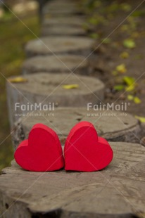 Fair Trade Photo Colour image, Day, Fathers day, Heart, Mothers day, Nature, Outdoor, Path, Peru, Red, South America, Two, Valentines day, Vertical, Wood