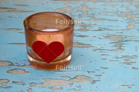 Fair Trade Photo Blue, Candle, Colour image, Day, Fathers day, Glass, Heart, Horizontal, Love, Mothers day, Peru, South America, Table, Valentines day, Wood