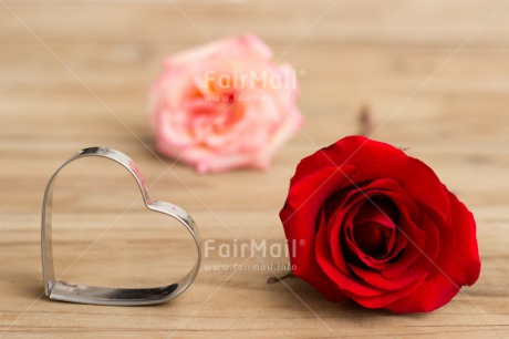 Fair Trade Photo Colour image, Flowers, Heart, Horizontal, Indoor, Love, Marriage, Mothers day, Peru, Red, Rose, South America, Table, Valentines day, Wedding, Wood