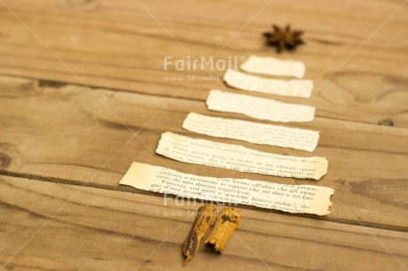 Fair Trade Photo Christmas, Colour image, Horizontal, Indoor, Paper, Peru, Seasons, South America, Star, Tree, White, Winter, Wood