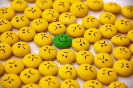 Fair Trade Photo Business, Colour image, Desk, Different, Emotions, Exams, Happiness, Indoor, Office, Peru, Smile, Smiling, South America, Studio, Success, Sweets, Yellow