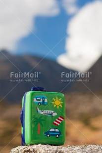 Fair Trade Photo Activity, Colour image, Day, Holiday, Landscape, Mountain, Nature, Outdoor, Peru, Seasons, South America, Suitcase, Summer, Tourism, Travel, Travelling, Vertical