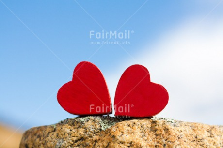 Fair Trade Photo Blue, Colour image, Couple, Day, Fathers day, Heart, Horizontal, Love, Marriage, Mothers day, Outdoor, Peru, Red, Sky, South America, Stone, Two, Valentines day, Wedding