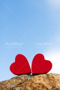 Fair Trade Photo Blue, Colour image, Couple, Day, Fathers day, Heart, Love, Marriage, Mothers day, Outdoor, Peru, Red, Sky, South America, Stone, Two, Valentines day, Vertical, Wedding