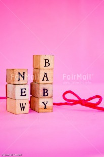 Fair Trade Photo Birth, Bow, Colour image, Girl, Letter, New baby, People, Peru, Pink, South America, Text, Vertical