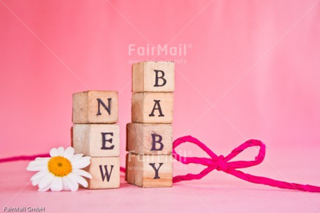 Fair Trade Photo Birth, Bow, Colour image, Daisy, Flower, Girl, Horizontal, Letter, New baby, People, Peru, Pink, South America, Text