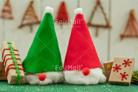 Fair Trade Photo Christmas, Christmas decoration, Christmas tree, Colour image, Gnome, Green, Horizontal, Peru, Present, Red, Santaclaus, South America, White
