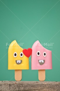 Fair Trade Photo Blue, Chachapoyas, Colour image, Food and alimentation, Heart, Ice cream, Icicle, Love, Marriage, Peru, Pink, Red, South America, Thinking of you, Valentines day, Vertical, Wedding, Yellow