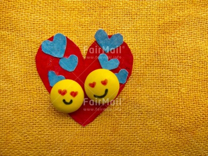 Fair Trade Photo Colour image, Heart, Horizontal, Love, Peru, Red, South America, Tabletop, Together, Valentines day, Yellow