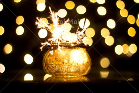 Fair Trade Photo Black, Colour image, Firework, Horizontal, Jar, Light, New Year, Peru, South America