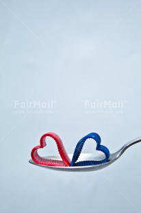 Fair Trade Photo Blue, Colour image, Heart, Love, Marriage, Peru, Red, South America, Spoon, Thinking of you, Valentines day, Vertical, Wedding, White