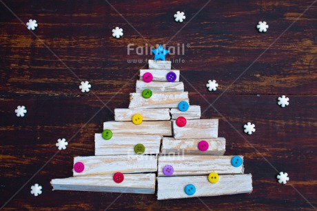 Fair Trade Photo Adjective, Button, Christmas, Christmas decoration, Christmas tree, Colour, Colour image, Horizontal, Object, Place, Snowflake, South America, Star, Wood