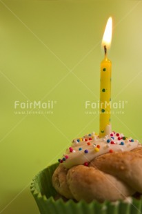 Fair Trade Photo Birthday, Cake, Candle, Colour image, Congratulations, Flame, Green, Indoor, Invitation, Party, Peru, South America, Studio, Vertical