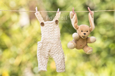 Fair Trade Photo Chachapoyas, Cloth, Colour image, Green, Hanging wire, Horizontal, Nature, Peg, Peluche, Peru, South America