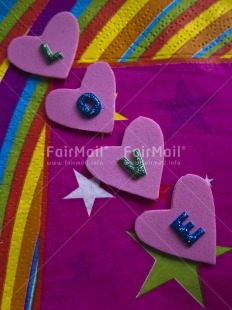 Fair Trade Photo Colour image, Heart, Indoor, Letter, Love, Multi-coloured, Peru, Pink, South America, Studio, Tabletop, Valentines day, Vertical