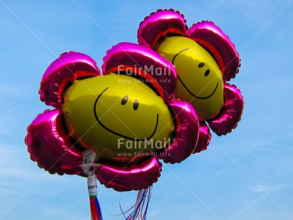 Fair Trade Photo Balloon, Birthday, Closeup, Colour image, Day, Flower, Friendship, Horizontal, Love, Outdoor, Party, Peru, Pink, Sky, Smile, South America, Summer, Together, Welcome home, Yellow