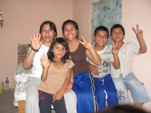 Mariaflor and her family