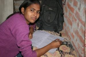 FairMail India photographer Sandhya doing her homework