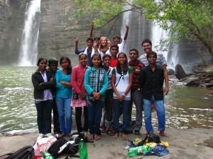 Elaine Cowen with the FairMail India team