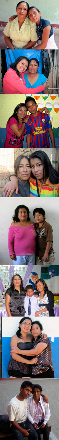 FairMail Peru teenagers with their mothers