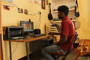 Dhiraj in the FairMail India office