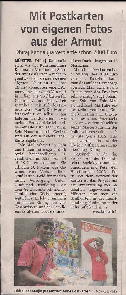 German Newspaper Article