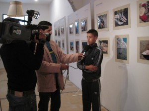 Monim being interviewed for the national television