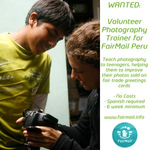 Volunteer as photography trainer